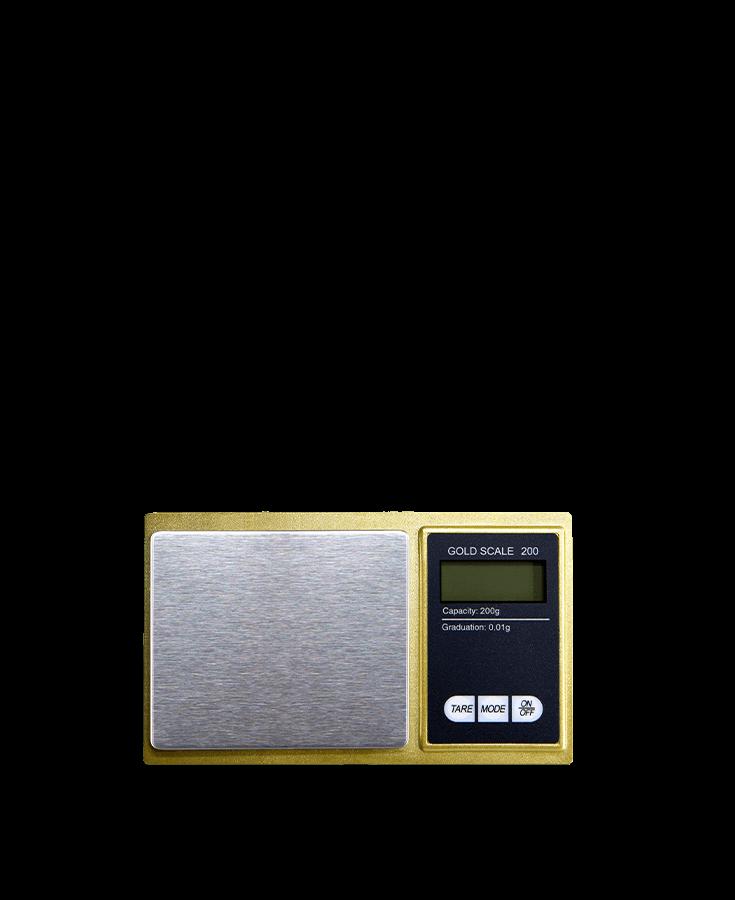 Old Donald's Golden Scale Produktebild Abwägen Gramm Waage Wiegen Gold Cbuy.ch Alles Gute aus Cannabis Schweizer CBD Hanfblüten CBD Produkte CBD Öle Hanf-Lebensmittel Schlafen Schmerzen Entspannung Natur SWISS Gate AG
